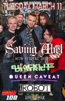 Saving Abel, Blacklite District, Queen Caveat, Sad Robot